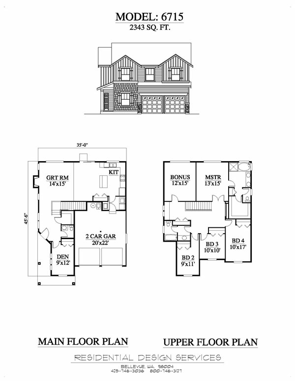 Example6715 for Multi residential house plans